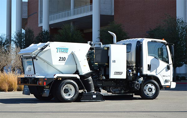 Model 210 Parking Lot Sweeper