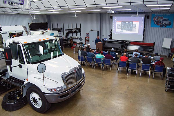 Demonstration of Sweeper Truck Component in Service School